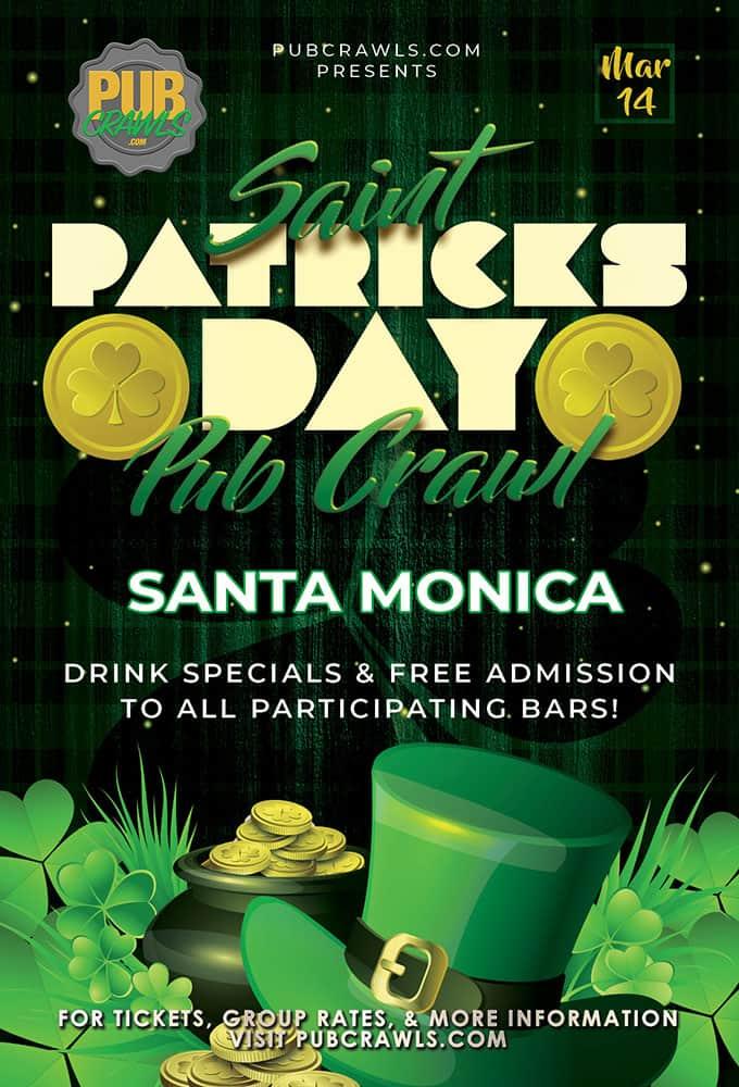 Luck of the Irish St Paddy's Pub Crawl Santa Monica