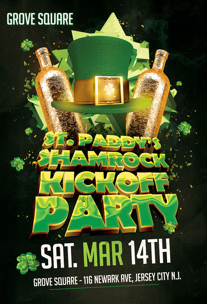 Grove Square St Paddy's Shamrock Kickoff Party