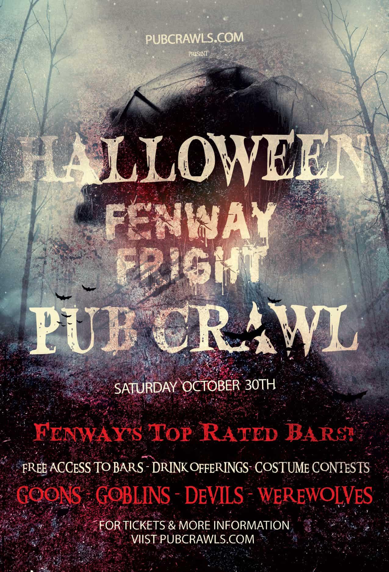 Fenway Fright Night Halloween Pub Crawl